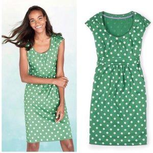 | Boden | Casual Weekend Polka Dot Dress [Green]